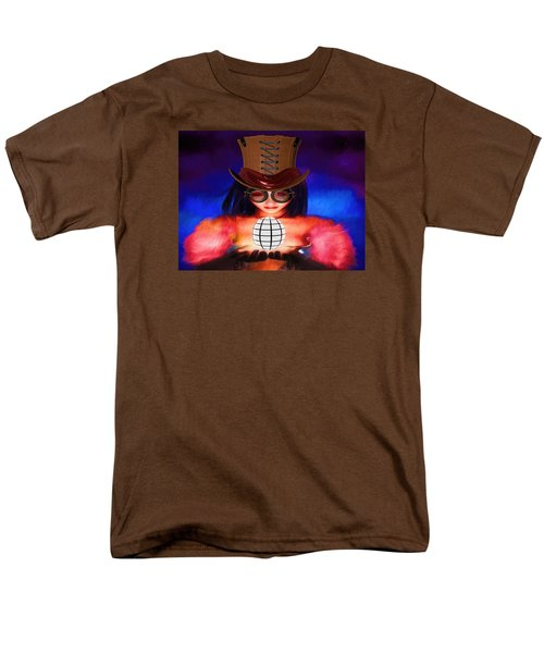 Steampunk Into The Light  Men's T-Shirt  (Regular Fit) by Louis Ferreira