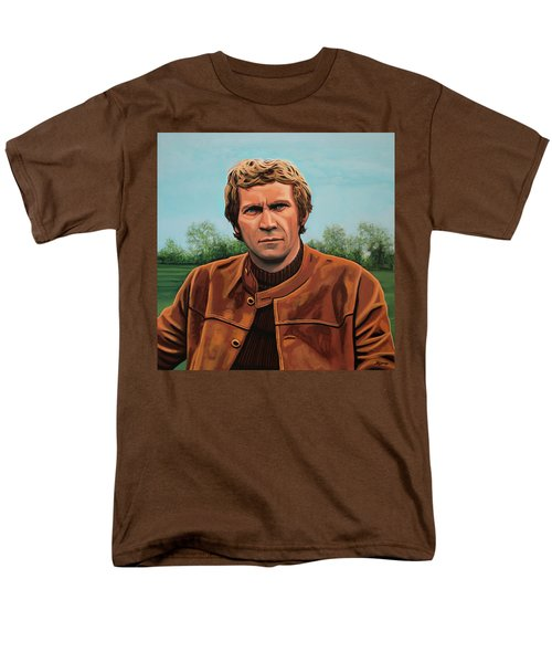 Steve Mcqueen Painting Men's T-Shirt  (Regular Fit) by Paul Meijering
