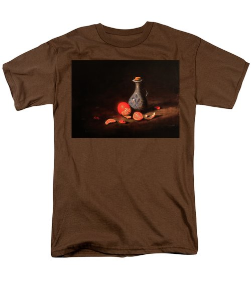 Men's T-Shirt  (Regular Fit) featuring the painting Still Life With A Little Dutch Jug by Barry Williamson