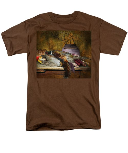 Still Life With Pheasants And Corn Men's T-Shirt  (Regular Fit) by Jeff Burgess