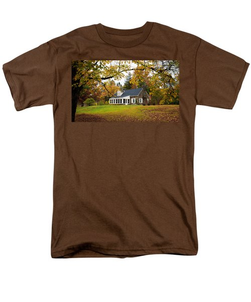 Stone Cottage In The Fall Men's T-Shirt  (Regular Fit) by Kenneth Cole