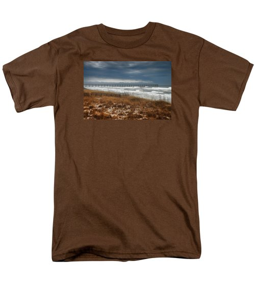 Men's T-Shirt  (Regular Fit) featuring the photograph Stormy Day At The Pier by Renee Hardison