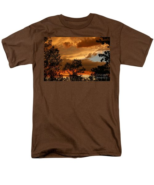 Stormy Sunset Men's T-Shirt  (Regular Fit) by Marilyn Carlyle Greiner