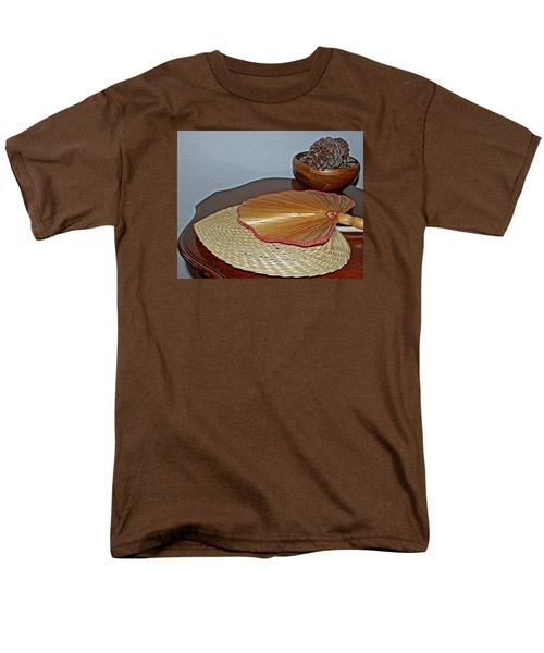 Men's T-Shirt  (Regular Fit) featuring the photograph Straw Fans by Judy Vincent