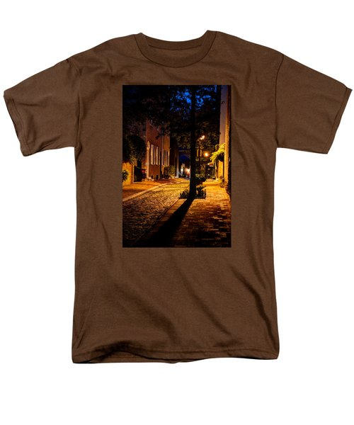 Street In Olde Town Philadelphia Men's T-Shirt  (Regular Fit) by Mark Dodd