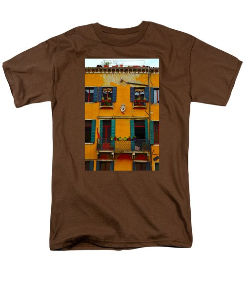 Men's T-Shirt  (Regular Fit) featuring the photograph Street Scene Venice by Richard Ortolano