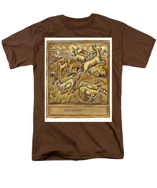 Study For Pronghorn And Deer Sculpture Men's T-Shirt  (Regular Fit) by Dawn Senior-Trask
