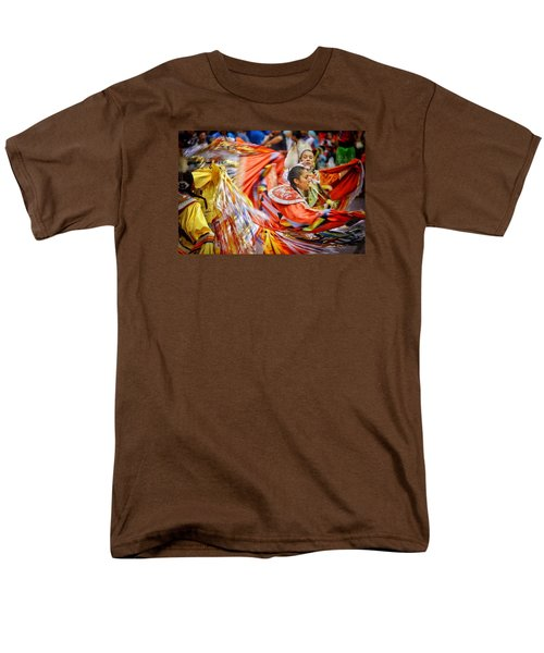 Men's T-Shirt  (Regular Fit) featuring the photograph Fancy Shawl Dancers 3 by Clarice Lakota