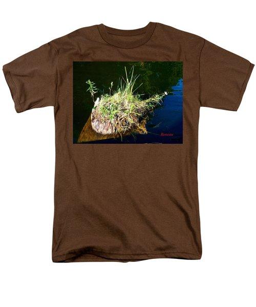 Men's T-Shirt  (Regular Fit) featuring the photograph Stump Art 11 by Sadie Reneau