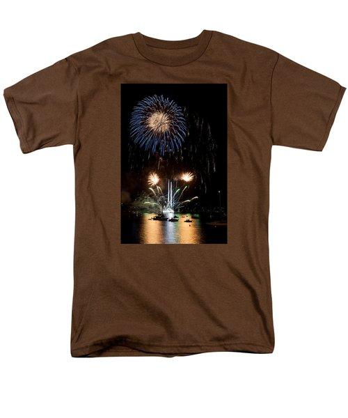 Summer Fireworks I Men's T-Shirt  (Regular Fit) by Helen Northcott