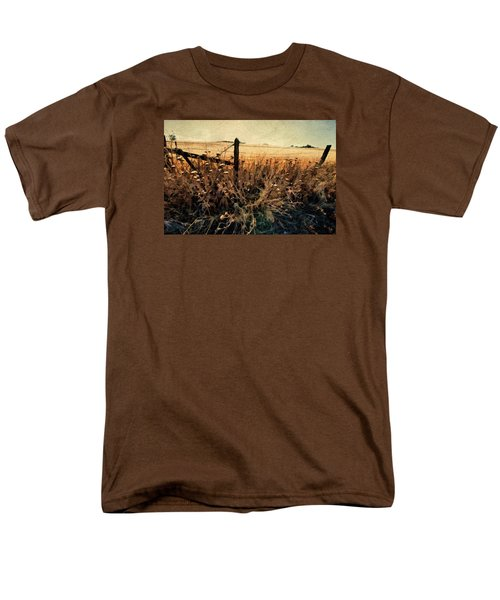 Summertime Country Fence Men's T-Shirt  (Regular Fit) by Steve Siri