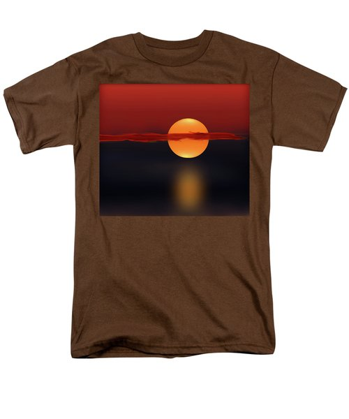 Sun On Red And Blue Men's T-Shirt  (Regular Fit) by Deborah Smith