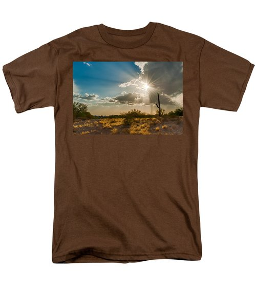 Men's T-Shirt  (Regular Fit) featuring the photograph Sun Rays In Tucson by Dan McManus