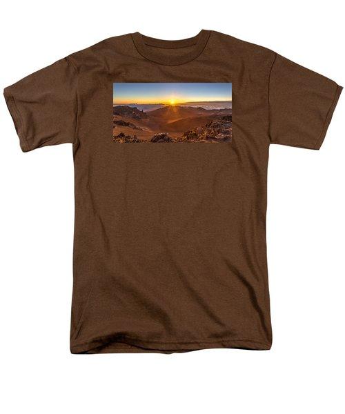 Sun Rising Mount Haleakala Men's T-Shirt  (Regular Fit) by Pierre Leclerc Photography