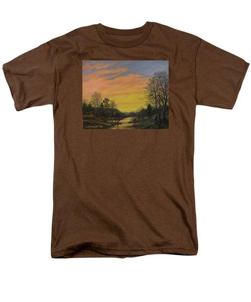 Men's T-Shirt  (Regular Fit) featuring the painting Sundown Glow by Kathleen McDermott