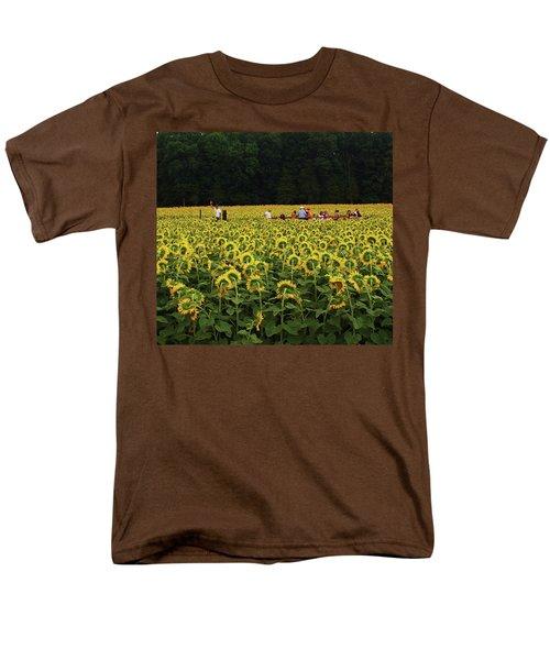 Sunflowers Everywhere Men's T-Shirt  (Regular Fit) by John Scates