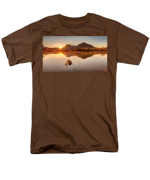Sunrise At Banff's Vermilion Lakes  Men's T-Shirt  (Regular Fit) by Pierre Leclerc Photography