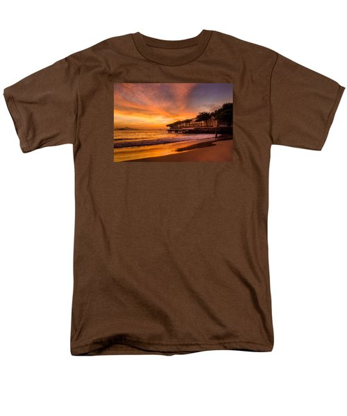 Sunrise At Copacabana Beach Rio De Janeiro Men's T-Shirt  (Regular Fit) by Celso Bressan