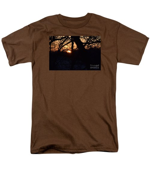 Sunrise In The Woods Men's T-Shirt  (Regular Fit) by Mark McReynolds