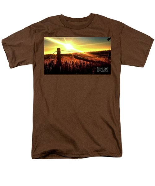 Sunrise On The Wire Men's T-Shirt  (Regular Fit) by J L Zarek