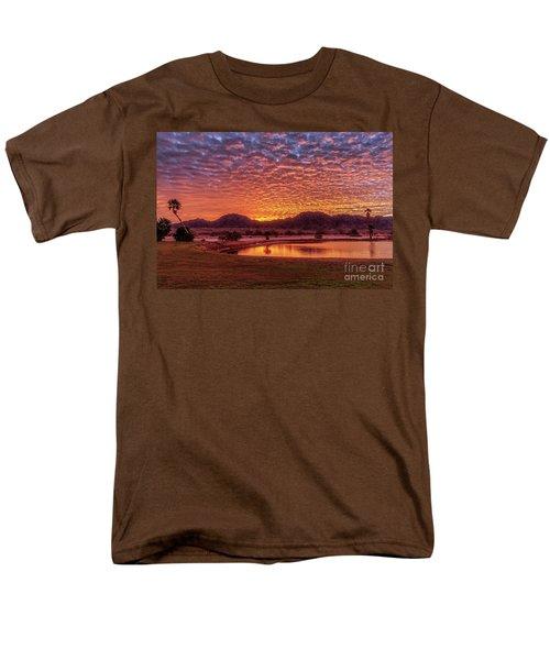 Sunrise Over Gila Mountain Range Men's T-Shirt  (Regular Fit) by Robert Bales