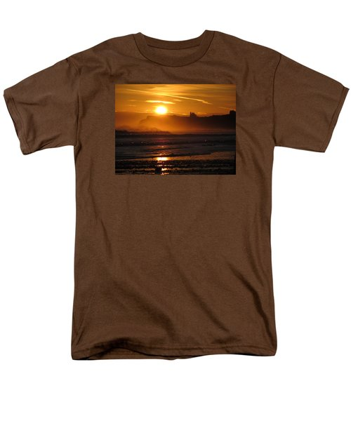 Men's T-Shirt  (Regular Fit) featuring the photograph Sunrise Over Sandsend Beach by RKAB Works