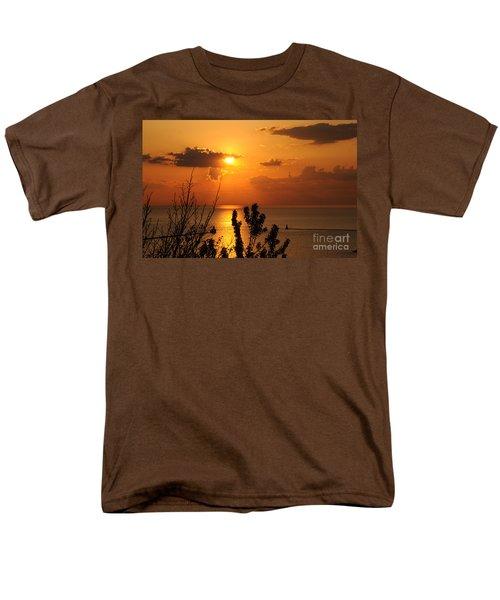 Sunset At Lake Huron Men's T-Shirt  (Regular Fit) by Joe  Ng