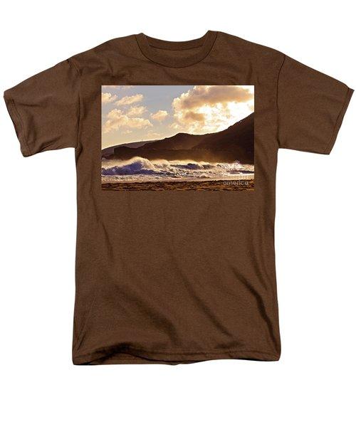 Men's T-Shirt  (Regular Fit) featuring the photograph Sunset At Sandy Beach by Kristine Merc