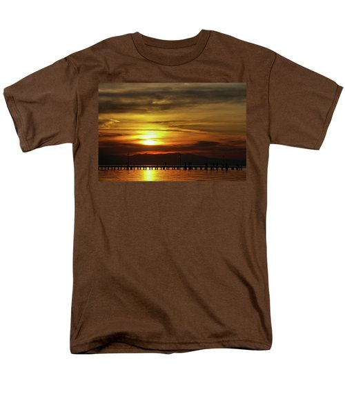 Men's T-Shirt  (Regular Fit) featuring the photograph Sunset At Thessaloniki by Tim Beach