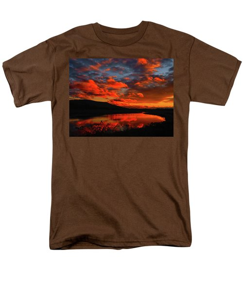 Sunset At Wallkill River National Wildlife Refuge Men's T-Shirt  (Regular Fit) by Raymond Salani III