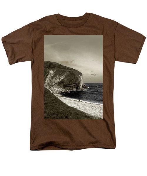 Men's T-Shirt  (Regular Fit) featuring the photograph Sunset Cliff by Sebastian Mathews Szewczyk