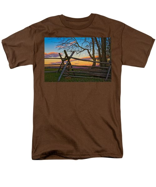 Sunset In Antietam Men's T-Shirt  (Regular Fit) by Ronald Lutz