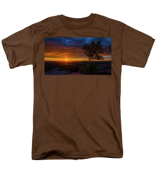 Sunset In Saxonian Switzerland Men's T-Shirt  (Regular Fit) by Andreas Levi