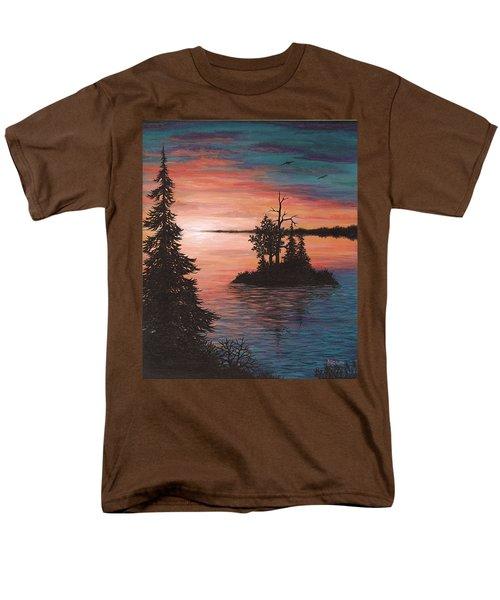 Sunset Island Men's T-Shirt  (Regular Fit) by Roz Eve