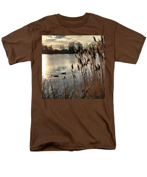 Sunset Lake  Men's T-Shirt  (Regular Fit) by Kathy Spall