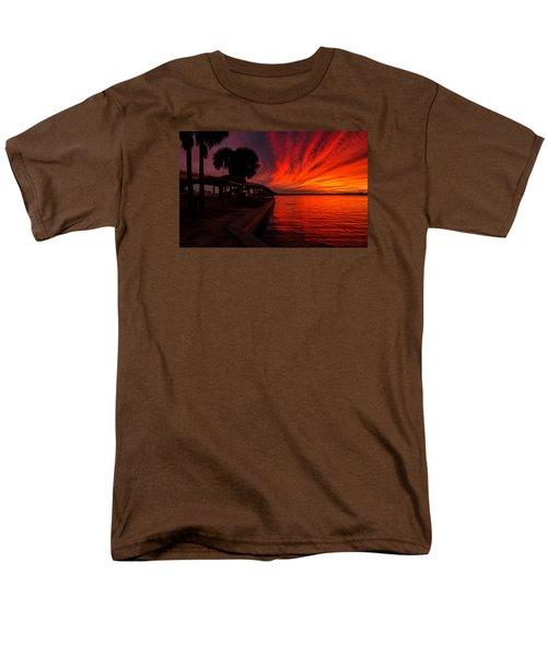 Sunset On Fire Men's T-Shirt  (Regular Fit) by Dorothy Cunningham