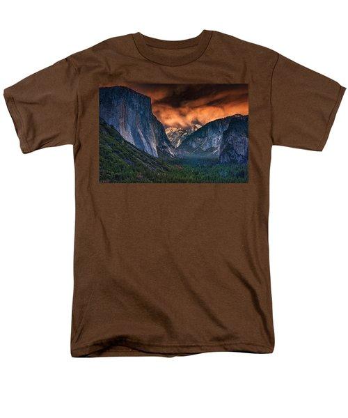 Sunset Skies Over Yosemite Valley Men's T-Shirt  (Regular Fit) by Rick Berk