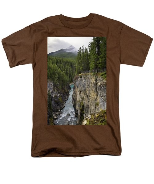 Sunwapta Falls Canyon Men's T-Shirt  (Regular Fit) by John Gilbert