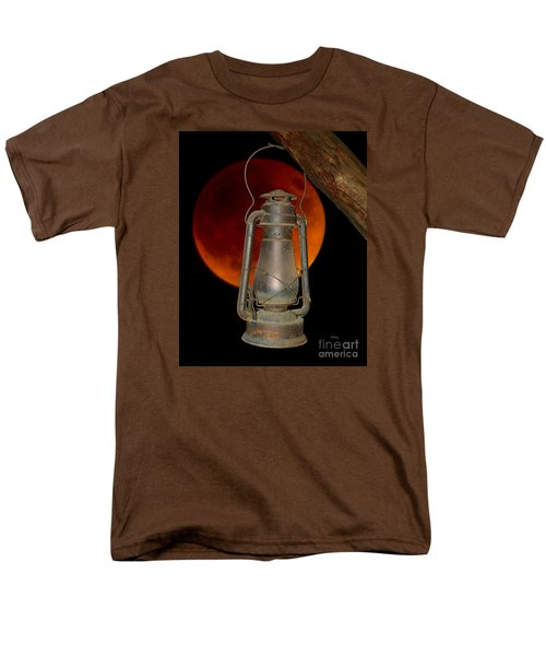 Men's T-Shirt  (Regular Fit) featuring the photograph Eerie Light Of An Eclipsed Super-moon by Patrick Witz