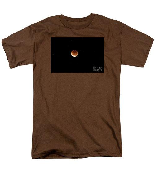 Men's T-Shirt  (Regular Fit) featuring the photograph Super Moon Lunar Elipse Images- 2015 by Janie Johnson