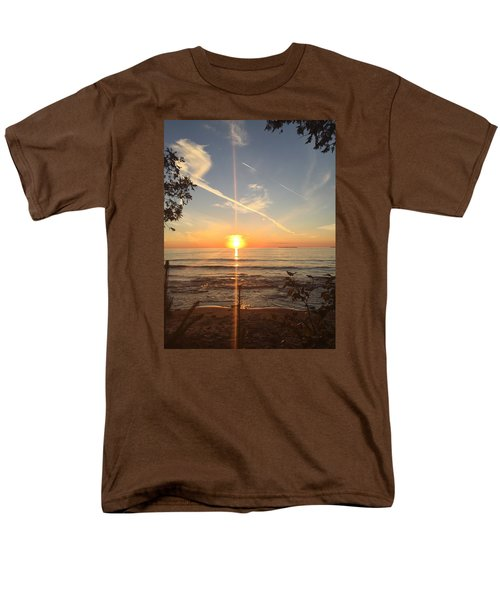 Men's T-Shirt  (Regular Fit) featuring the photograph Superior Sunset by Paula Brown