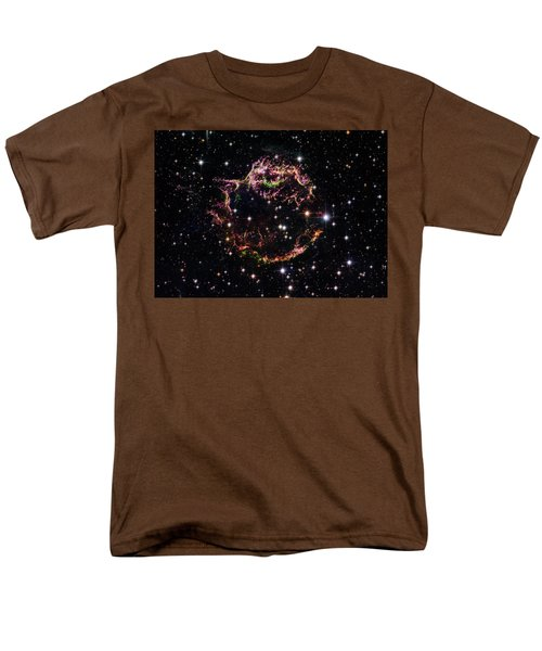 Men's T-Shirt  (Regular Fit) featuring the photograph Supernova Remnant Cassiopeia A by Marco Oliveira