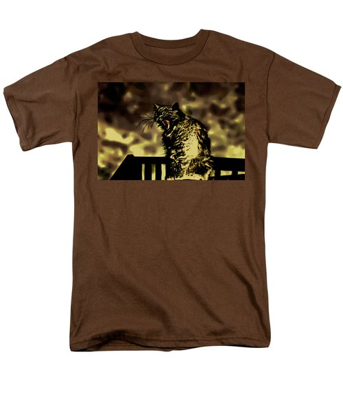 Surreal Cat Yawn Men's T-Shirt  (Regular Fit) by Gina O'Brien