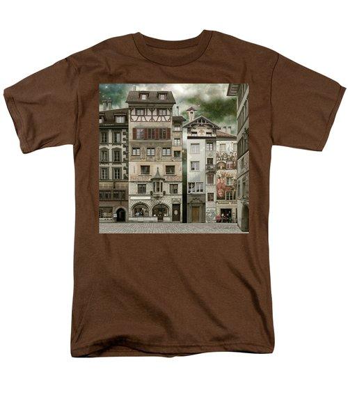 Swiss Reconstruction Men's T-Shirt  (Regular Fit) by Joan Ladendorf
