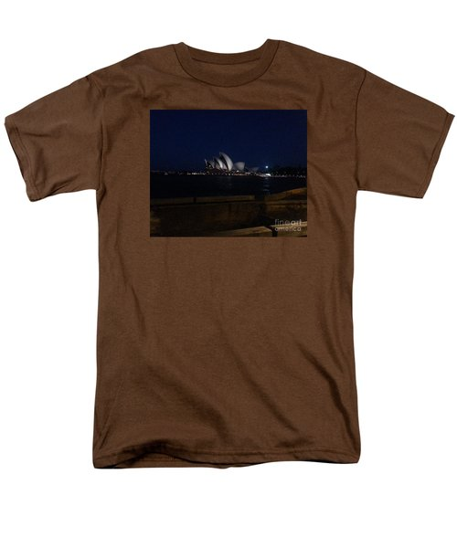 Sydney Opera House At Night Men's T-Shirt  (Regular Fit) by Bev Conover