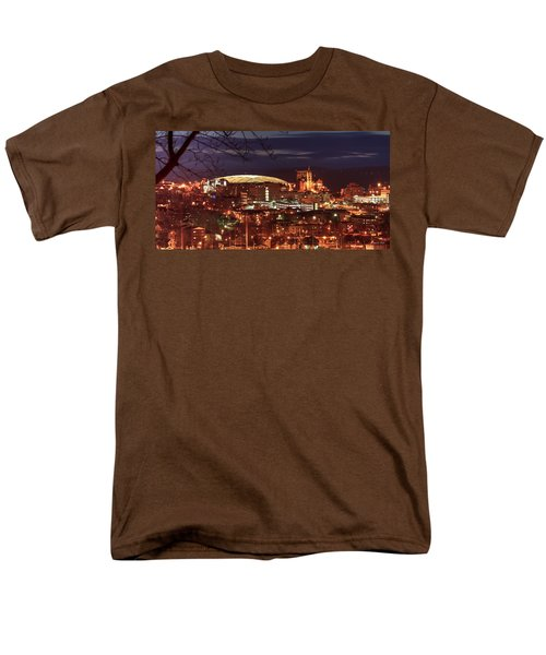 Syracuse Dome At Night Men's T-Shirt  (Regular Fit) by Everet Regal
