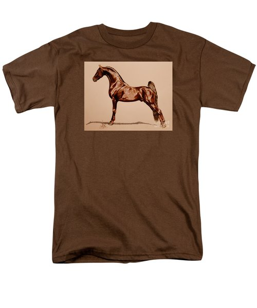 Tangos Daylight - Saddlebred Stallion Men's T-Shirt  (Regular Fit) by Cheryl Poland