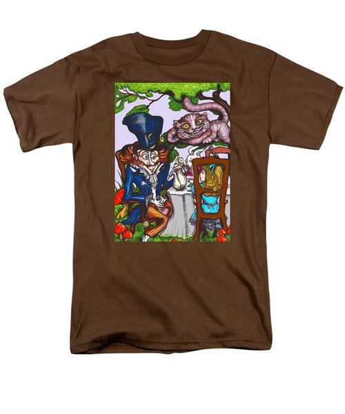 Men's T-Shirt  (Regular Fit) featuring the drawing Tea Party by Rae Chichilnitsky