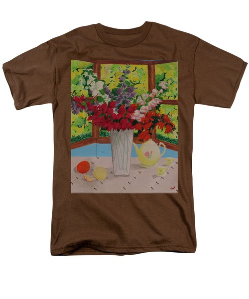 Men's T-Shirt  (Regular Fit) featuring the painting Tea Time by Hilda and Jose Garrancho
