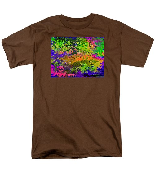 Technicolor Leaves Men's T-Shirt  (Regular Fit) by Patricia Griffin Brett